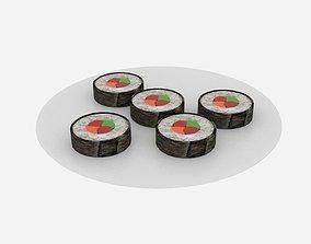Sushi Roll Platter 3D asset
