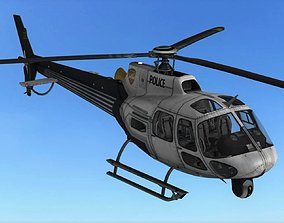 3D model FLY Game-Ready - Police Helicopter