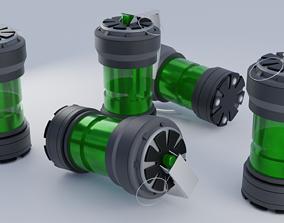 Futuristic Atom Bomb 3D model