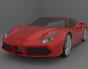 rendering 3D model Ferrari 488 GTB