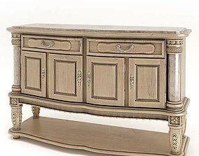 3D Retro Antique Wooden Buffet