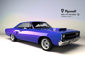 3D asset Plymouth Road runner 1970