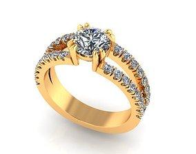 Wedding Ring R009 3D printable model