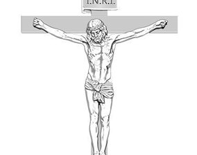 JESUS ON THE CROSS 3D Detailed Realistic