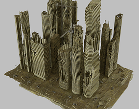 street 3D Ruined City Destroyed Cityscape Pack