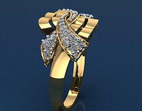 engagement-ring engagem Gold Ring 3D print model