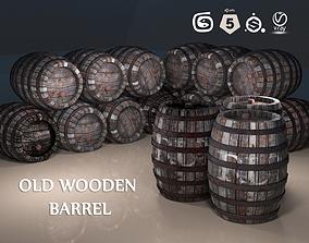 Wooden Barrel PBR Props 3D asset