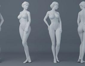 3D print model Fullness woman wearing swimsuit 002