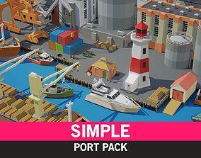 3D model Simple Port - Cartoon Assets