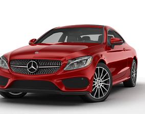 3D asset Mercedes Benz C Class Coupe 2019
