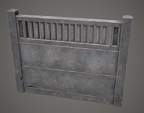 3D asset Old USSR Fence PBR Low Poly