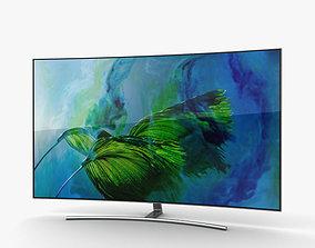 3D model Samsung 55 Class Q8C Curved QLED 4K TV
