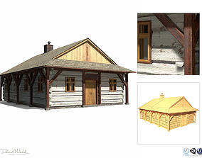 3D asset Carpenter House - Slav Architecture