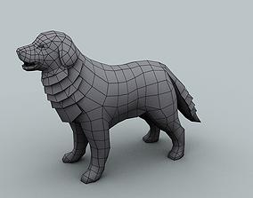 VR / AR ready Model for texturing big dog