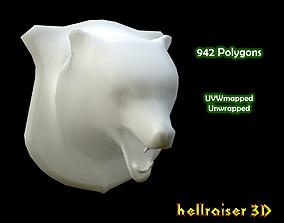 3D asset Bear Head