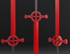 3D model VR / AR ready Finn Sword - Demon Blood Sword