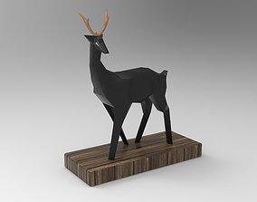 Decoration Deer Sculpture 3D model