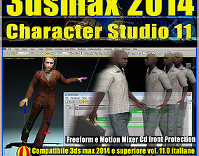 3ds max 2014 Character Studio v 11 Italiano cd animated