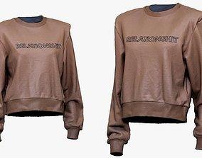 001278 female pinki blouse relationshit 3D model