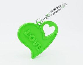 Heart Shaped Keychain 3D print model