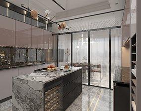 3D asset game-ready Kitchen Modern
