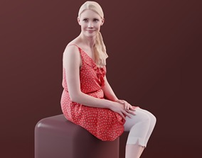 Kim 10178 - Sitting Casual Woman 3D model