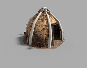 3D asset low poly medieval tent
