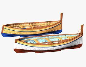 Fishing Rowing Boat - Spanish 3D asset