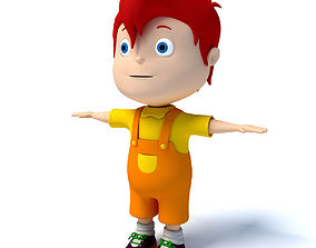 3D model Rigged Redhaired Child
