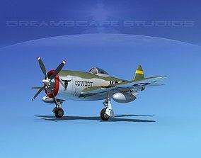 3D model Republic P-47D Thunderbolt V13