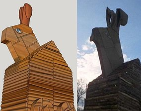 Trojan Rabbit Dice Tower 3D print model