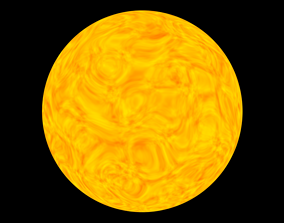 low-poly 3D Sun