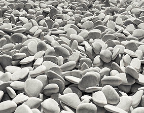 3D model Road white pebble