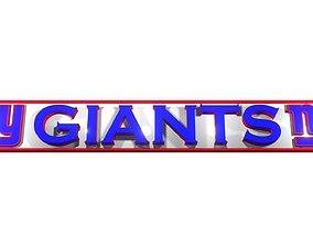 3D Giants NFL team logo