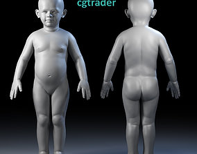 Child Basemesh 3D asset realtime