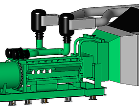 MOTOGENERADOR electricidad 3D model
