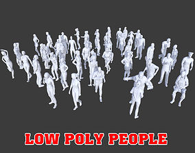 3D model 50 Low Poly People Collection Pack 1