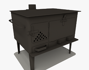 Wood Stove 3D model low-poly