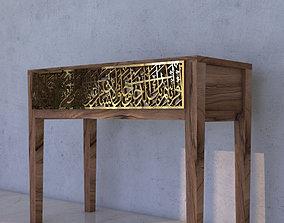3D model Arabic Calligraphy Console