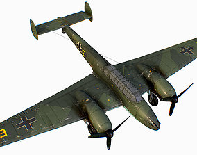 German fighter bomber Messerschmitt Bf 110 C4 3D model