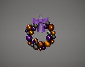 3D asset Halloween Bauble Wreath