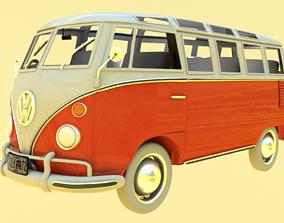 Volkswagen Samba T1 Bus 3D Model game-ready