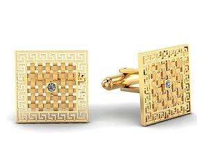 Stud cufflink gold or silver 3D printable model