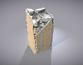 Broken Concrete Pillar 3D model