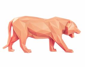 3D asset Tiger Pose Low Poly