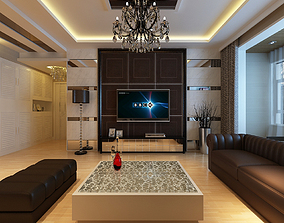 3D Living Dining Room Scene suite