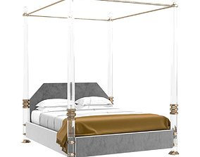 3D model Charles Hollis Jones Bob Hope King-Size Bed in