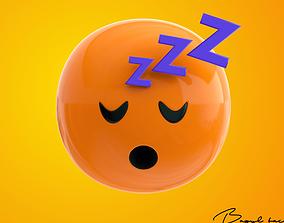 3D asset Emoji Sleeping