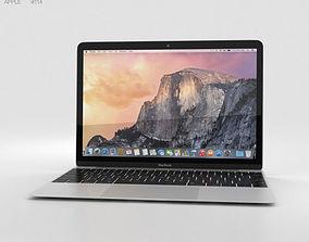3D Apple MacBook Silver