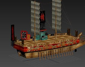 old korea battle ship panoksun korea name 3D model